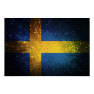 Sverige; Bandera de Suecia Posters
