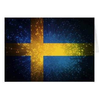 Sverige Bandera de Suecia Tarjetón