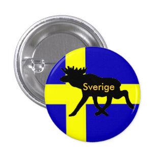 Sverige Button con alce Pin