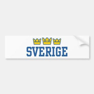Sverige Etiqueta De Parachoque