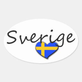 Sverige Calcomanía De Óval Personalizadas