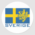 Sverige Flag Classic Round Sticker