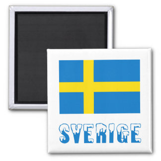 Sverige Flag & Name Magnet