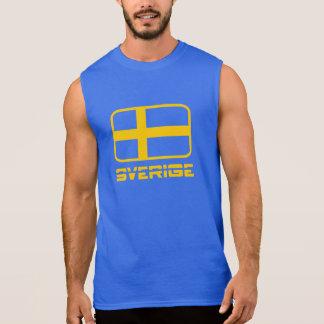 Sverige Flag Sleeveless T-shirts