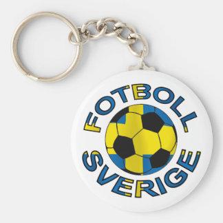 Sverige Fotboll Sweden Football Basic Round Button Keychain