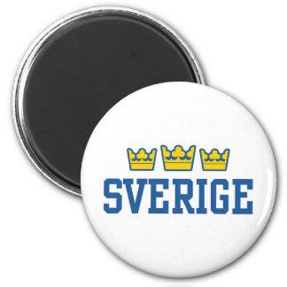 Sverige Imán Redondo 5 Cm