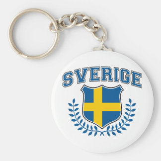 Sverige Llavero Redondo Tipo Pin