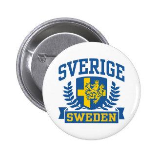 Sverige Pinback Button