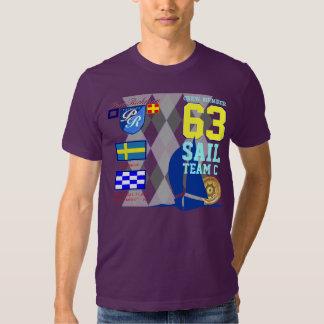 Sverige Sail Team C Port Richman Marine Argyle Tees
