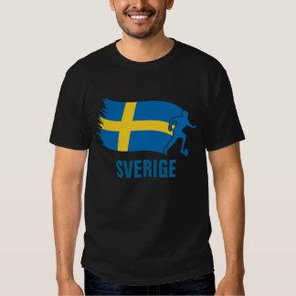 Sverige Soccer Flag T Shirt