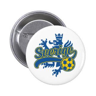 Sverige Soccer Pinback Buttons