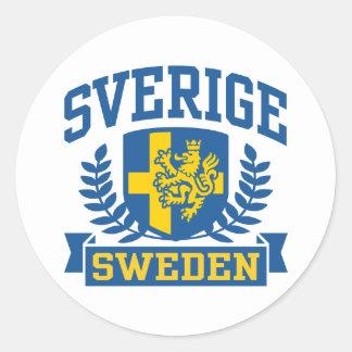 Sverige Classic Round Sticker