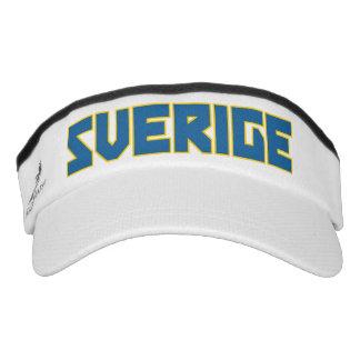 Sverige Sweden bold text Visor Hat Headsweats Visor
