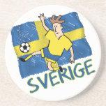 Sverige Sweden  fotboll Soccer Coaster