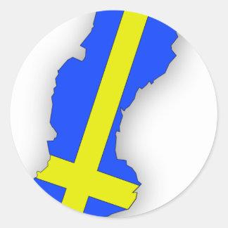 Sverige = Sweden Map Classic Round Sticker