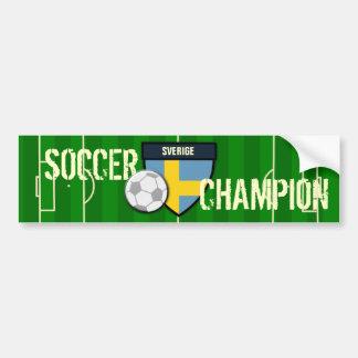 Sverige Sweden Soccer Champion Car Bumper Sticker
