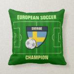 Sverige Sweden Soccer Champion Pillow