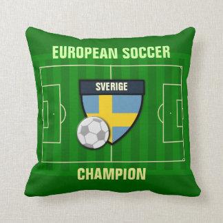 Sverige Sweden Soccer Champion Throw Pillows