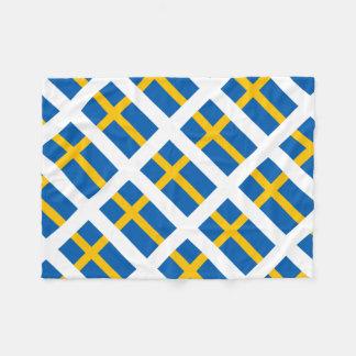 Sverige Sweden Swedish Flag Fleece Blanket