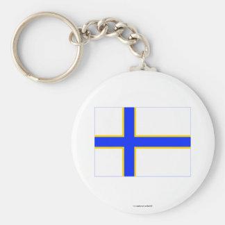 Sverigefinska flag keychain
