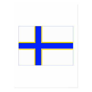 Sverigefinska flag post cards