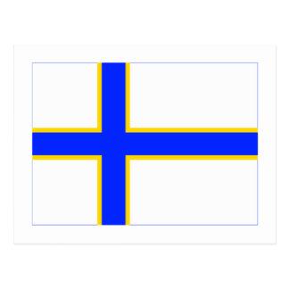Sverigefinska flag postcard