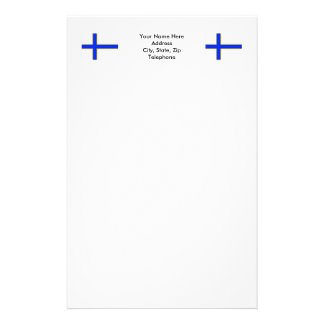Sverigefinska flag stationery design