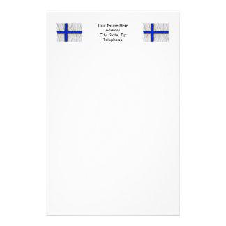 Sverigefinska waving flag stationery