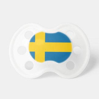 Sveriges Flagga - Flag of Sweden - Swedish Flag Pacifier