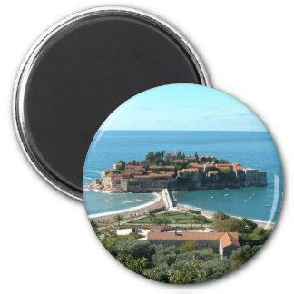 Sveti Stefan 2 Inch Round Magnet