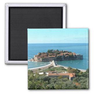 Sveti Stefan 2 Inch Square Magnet