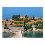 Sveti Stefan in Montenegro Postcard