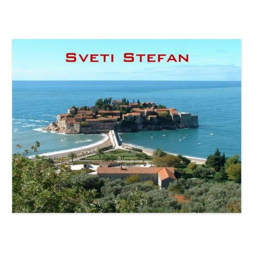 Sveti Stefan Post Card