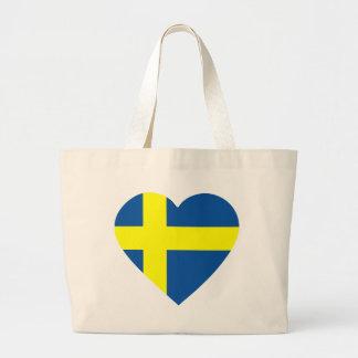 svezia-heart. tote bags