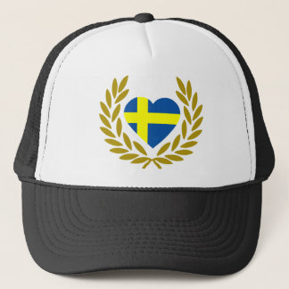 svezia-laurel-heart. trucker hat