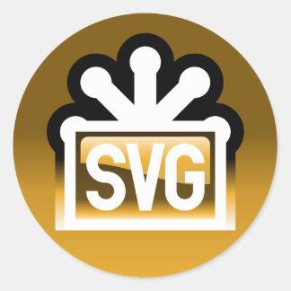 SVG por completo Pegatina Redonda