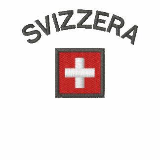 Svizzera Ladie Hoodie With Switzerland Pocket Flag