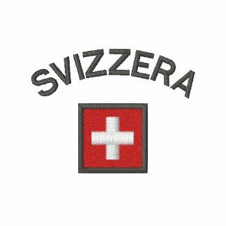 Svizzera Ladies Tee With Switzerland Pocket Flag