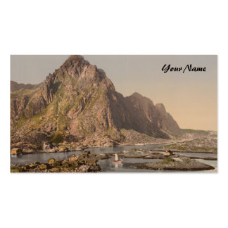Svolvaer, Lofoten, Nord-Norge, Norway Business Card Template