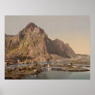 Svolvaer, Lofoten, Nord-Norge, Norway Poster