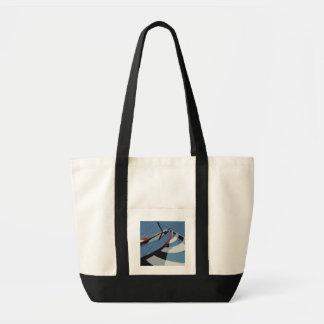 SW Florida Cape Coral Sailing Impulse Tote Black Canvas Bag