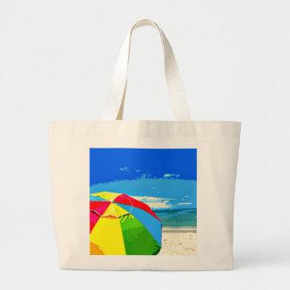 SW Florida Captiva Beach Umbrella Jumbo Tote Tote Bags