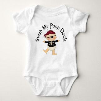 Swab My Poop Deck Baby Bodysuit