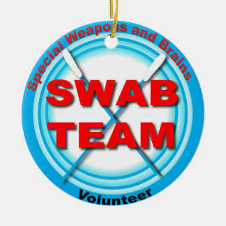SWAB Special Weapons And Brains Ceramic Ornament