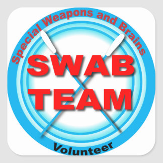 SWAB Special Weapons And Brains Square Sticker