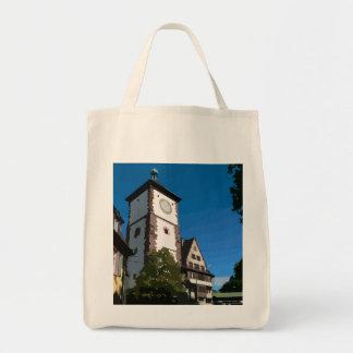 Swabian gate Freiburg Canvas Bags