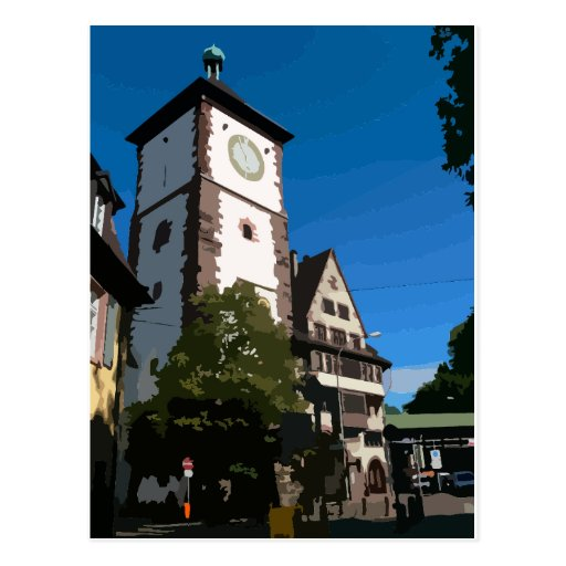 Swabian gate Freiburg Post Card