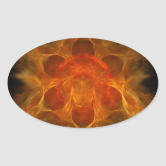Swadhisthana Second Chakra - One's Own Abode Oval Sticker