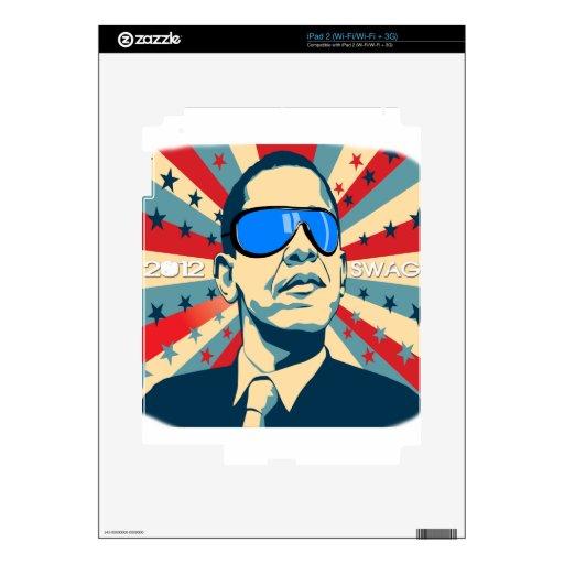 Swag 2012 de Obama Calcomanías Para El iPad 2