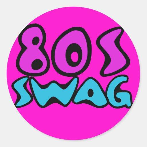 swag 80s etiquetas redondas